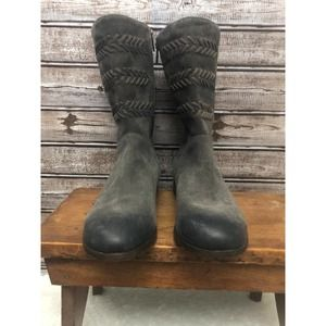 UGG Cailyn Mid Boot Grey 9.5 Distressed